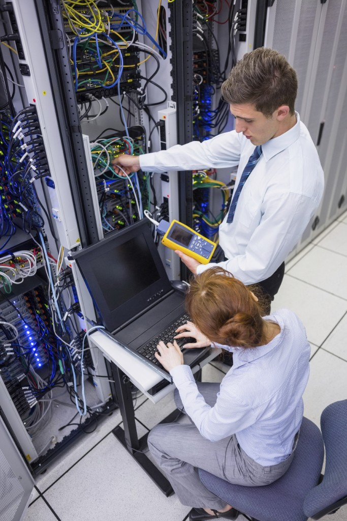 Cable Technicians analyzing