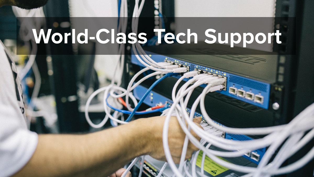 World class tech support