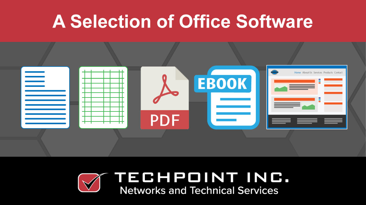 A selection of office software.